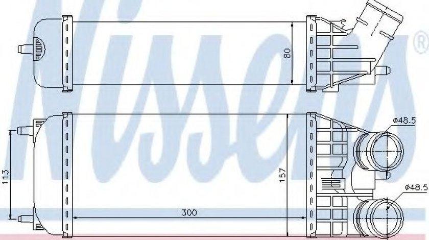 Radiator intercooler PEUGEOT 207 SW (WK) (2007 - 2016) NISSENS 96594 produs NOU