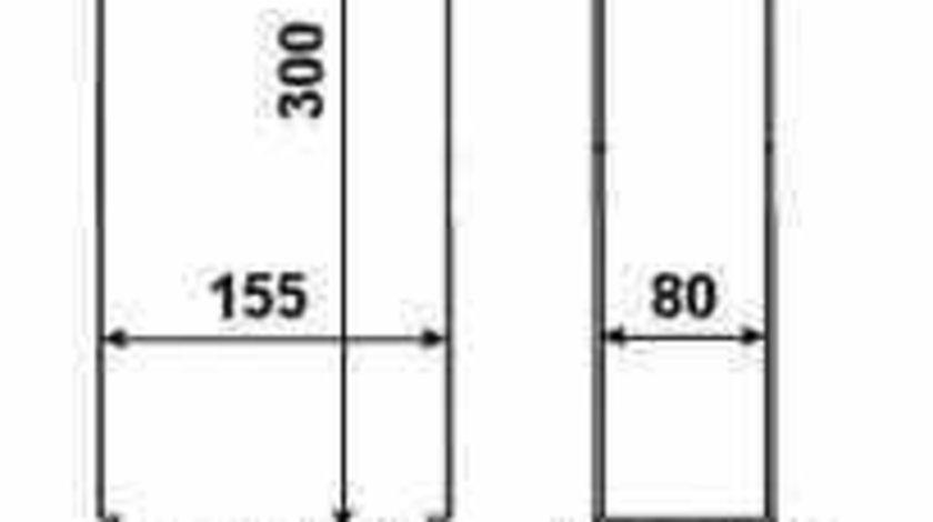 Radiator intercooler PEUGEOT 207 SW WK NRF 30460
