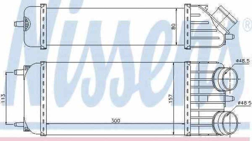 Radiator intercooler PEUGEOT 207 SW WK Producator NISSENS 96612