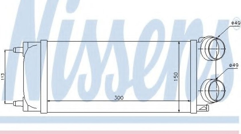 Radiator intercooler PEUGEOT 307 SW (3H) (2002 - 2016) NISSENS 96718 - produs NOU