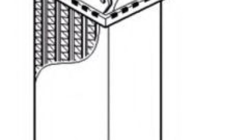 Radiator intercooler PEUGEOT 607 (9D, 9U) (2000 - 2016) NRF 30835 produs NOU