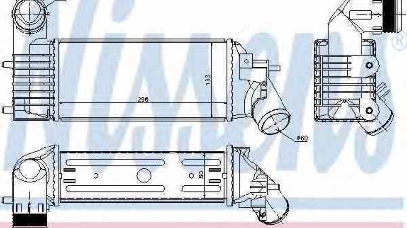 Radiator intercooler PEUGEOT 607 9D 9U NISSENS 96765