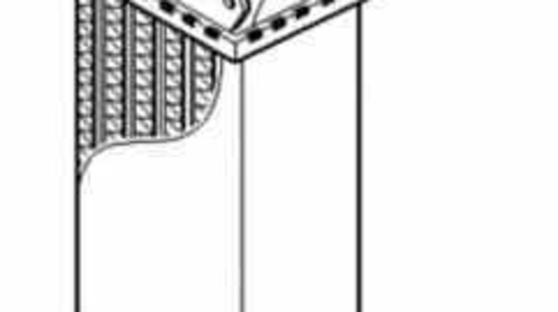 Radiator intercooler PEUGEOT 607 9D 9U NRF 30835