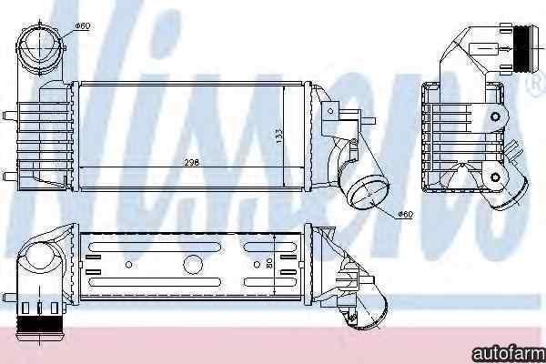 Radiator intercooler PEUGEOT 607 9D 9U Producator NISSENS 96765