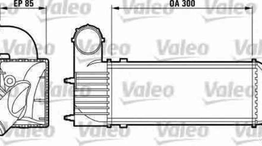 Radiator intercooler PEUGEOT 607 9D 9U VALEO 817437
