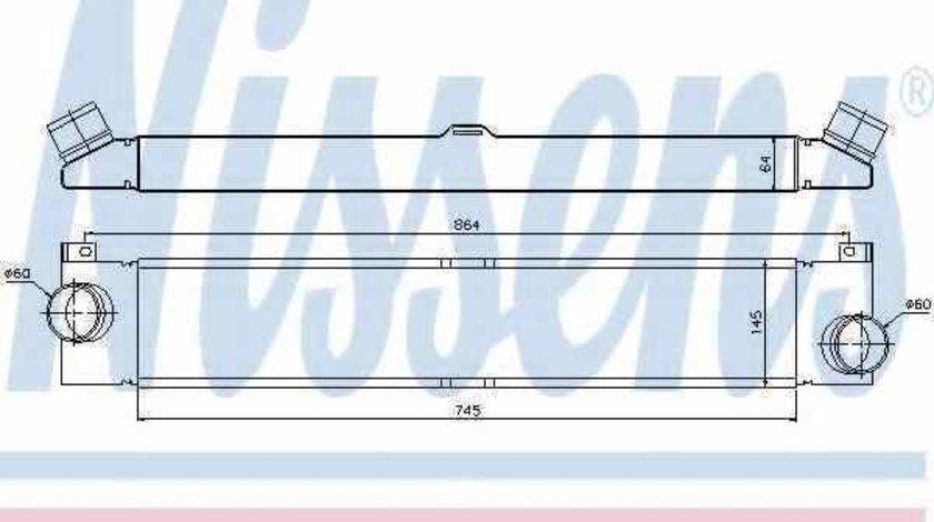 Radiator intercooler PEUGEOT BOXER platou / sasiu NISSENS 96623