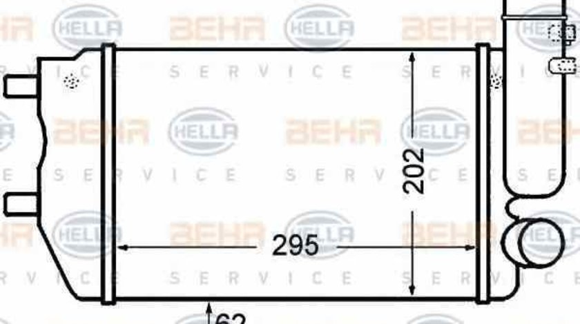 Radiator intercooler PEUGEOT BOXER platou / sasiu ZCT HELLA 8ML 376 727-571