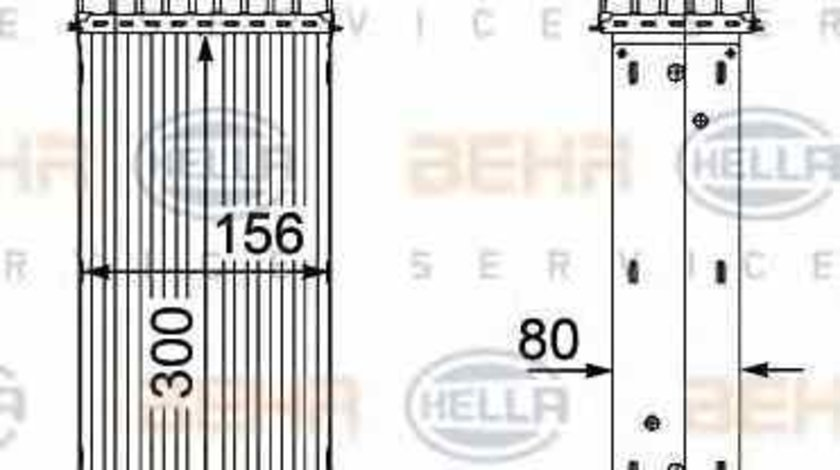 Radiator intercooler PEUGEOT EXPERT Tepee VF3V HELLA 8ML 376 746-361