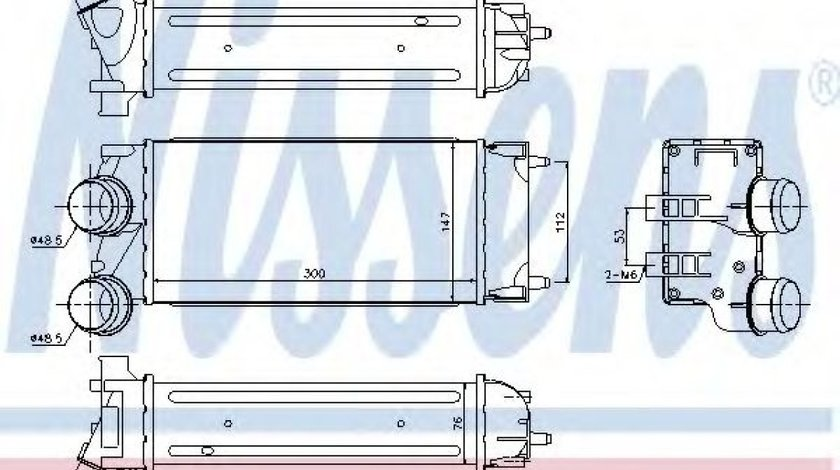Radiator intercooler PEUGEOT PARTNER (2008 - 2016) NISSENS 96514 - produs NOU