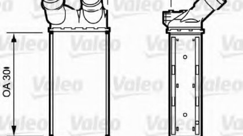 Radiator intercooler PEUGEOT PARTNER (2008 - 2016) VALEO 818866 - produs NOU