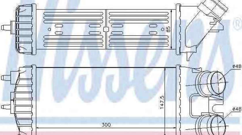Radiator intercooler PEUGEOT PARTNER caroserie 5 NISSENS 96550