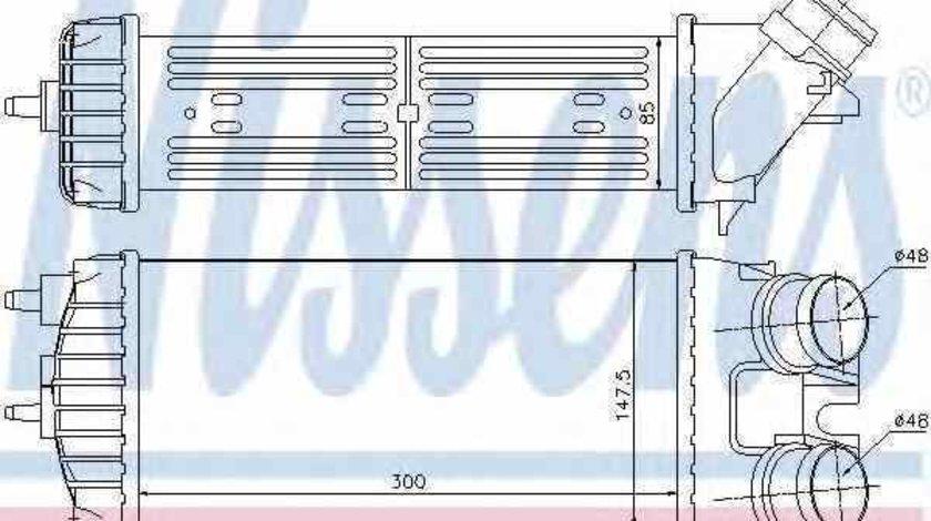 Radiator intercooler PEUGEOT PARTNER Combispace 5F NISSENS 96550