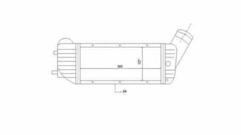 Radiator intercooler PEUGEOT PARTNER Combispace 5F NRF 30894