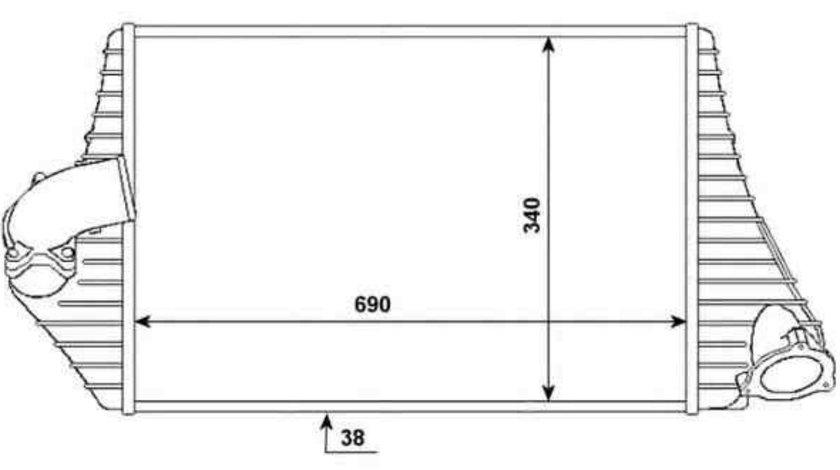 Radiator intercooler RENAULT ESPACE III (JE0_) NRF 30783