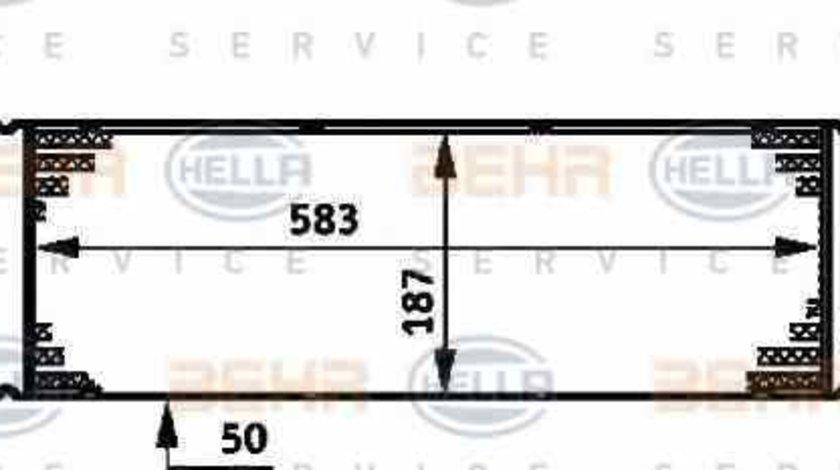Radiator intercooler RENAULT MEGANE II combi KM0/1 HELLA 8ML 376 719-031
