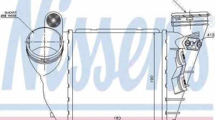 Radiator intercooler SKODA OCTAVIA 1U2 Producator NISSENS 96679