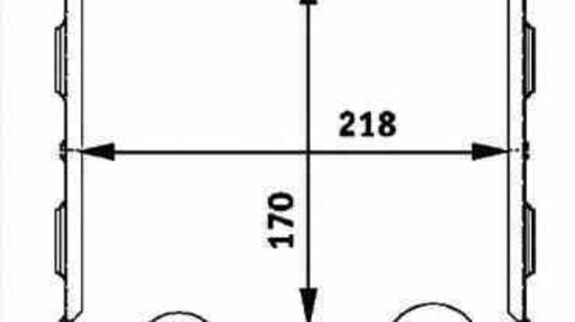 Radiator intercooler SMART FORTWO Cabrio 450 NRF 30257
