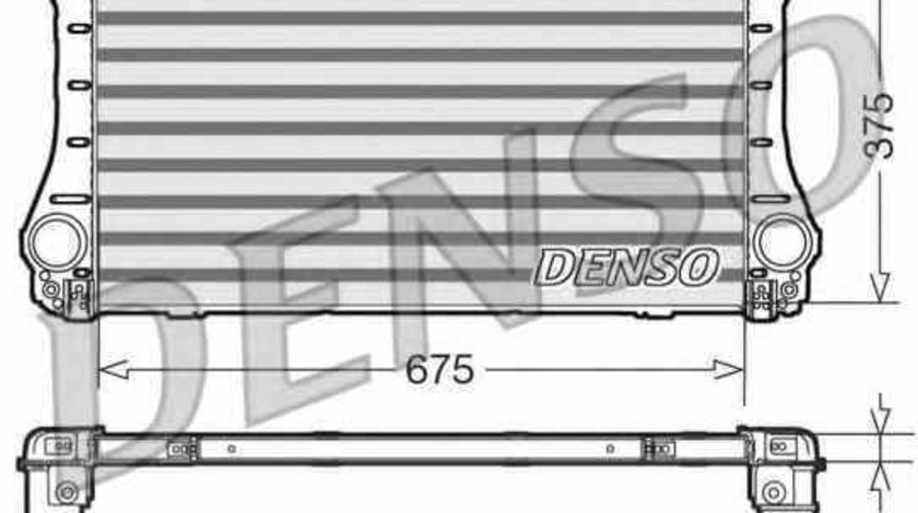 Radiator intercooler TOYOTA AVENSIS limuzina ZRT27 ADT27 Producator DENSO DIT50005