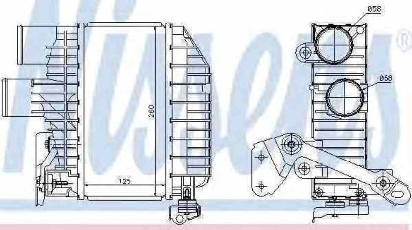 Radiator intercooler TOYOTA AVENSIS T25 Producator NISSENS 96758