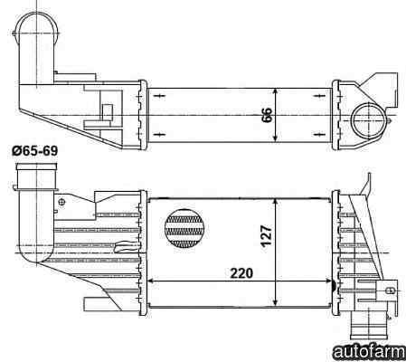 Radiator intercooler VAUXHALL ASTRA Mk V H combi NRF 30258