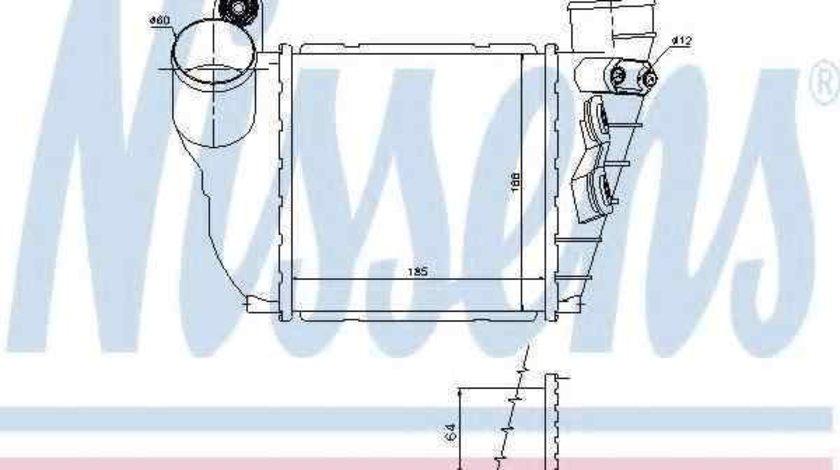 Radiator intercooler VW GOLF IV (1J1) NISSENS 96488