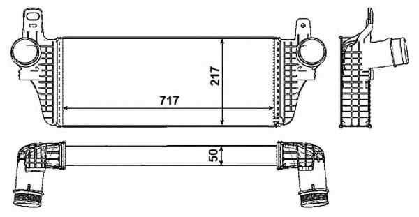 Radiator intercooler VW MULTIVAN V (7HM, 7HN, 7HF, 7EF, 7EM, 7EN) NRF 30466