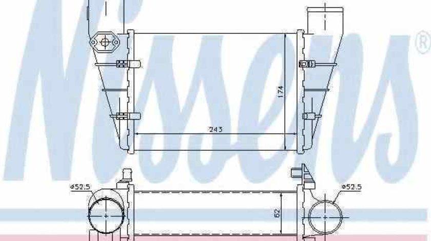 Radiator intercooler VW PASSAT 3B2 NISSENS 96896
