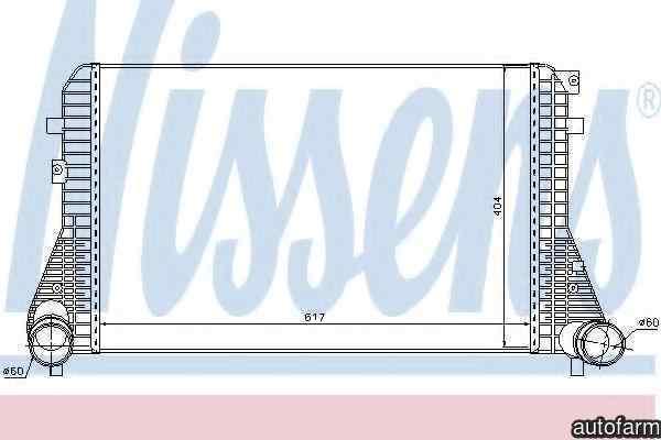 Radiator intercooler VW SHARAN 7N NISSENS 96575