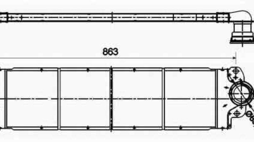 Radiator intercooler VW TRANSPORTER V platou / sasiu 7JD 7JE 7JL 7JY 7JZ 7FD NRF 30354