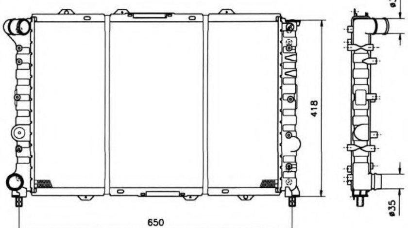 Radiator, racire motor ALFA ROMEO 156 (932) (1997 - 2005) NRF 58215 piesa NOUA