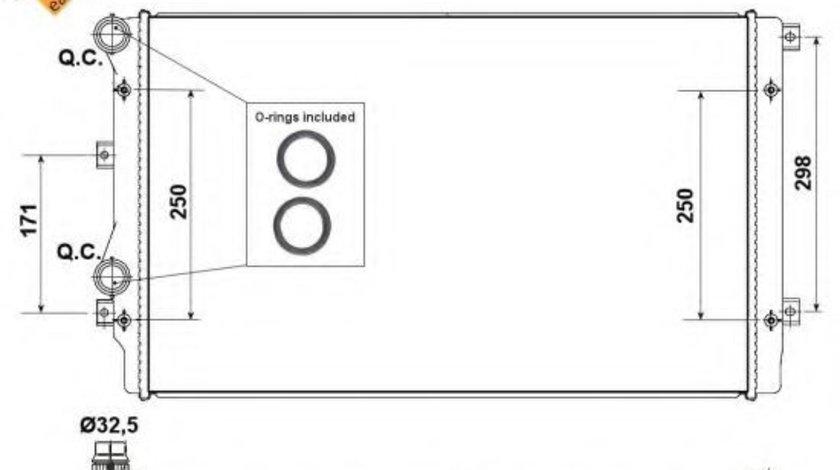 Radiator, racire motor AUDI A3 (8P1) (2003 - 2012) NRF 53406 piesa NOUA