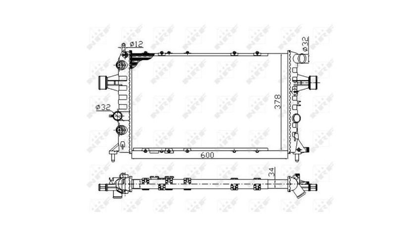 Radiator, racire motor BMW Seria 3 (2006->) [E92] #2 01073056
