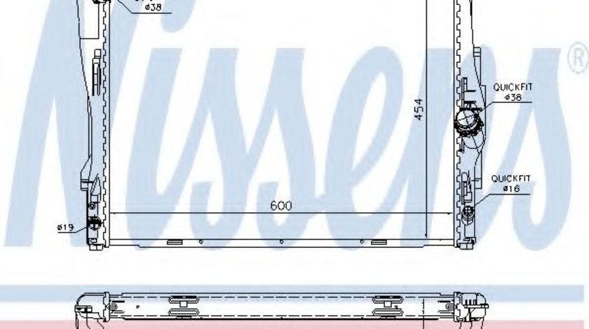 Radiator, racire motor BMW X1 (E84) (2009 - 2015) NISSENS 60786A piesa NOUA