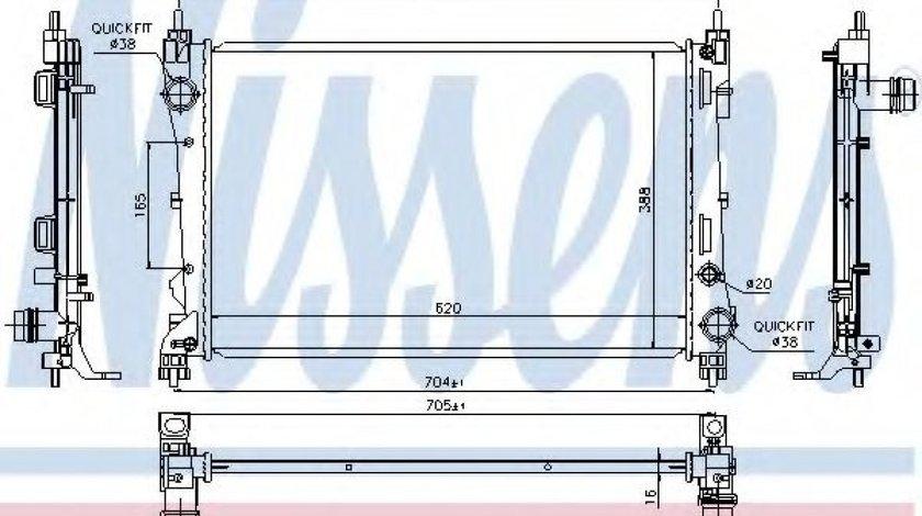 Radiator, racire motor FIAT DOBLO Combi (263) (2010 - 2016) NISSENS 617854 produs NOU