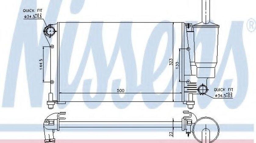 Radiator, racire motor FIAT PANDA (169) (2003 - 2016) NISSENS 617845 produs NOU