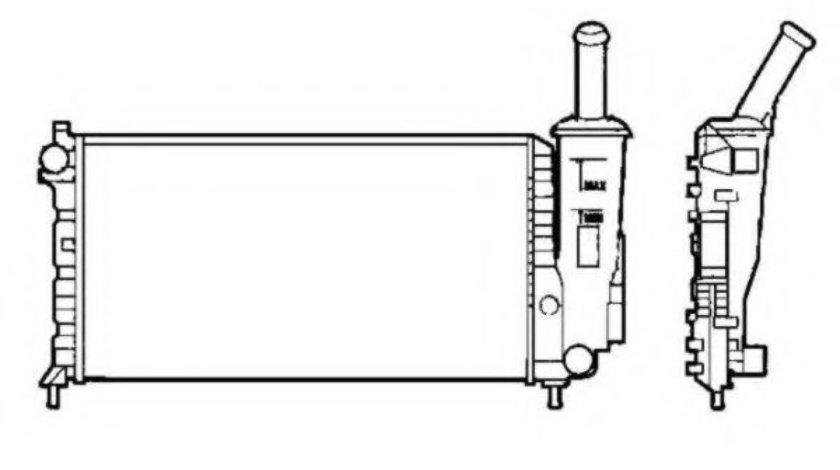 Radiator, racire motor FIAT PUNTO (188) (1999 - 2016) NRF 58273 produs NOU