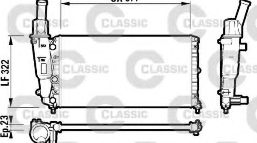 Radiator, racire motor FIAT PUNTO Van (176L) (1996 - 2000) VALEO 232705 produs NOU