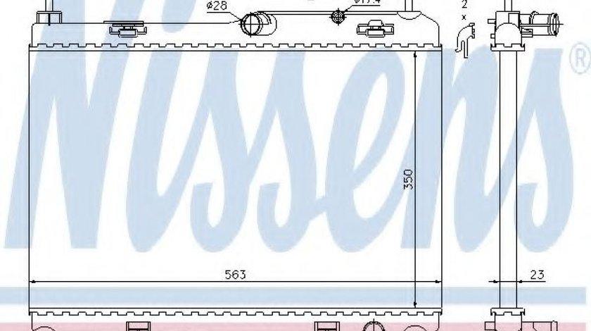 Radiator, racire motor FORD B-MAX (JK) (2012 - 2016) NISSENS 69235 piesa NOUA