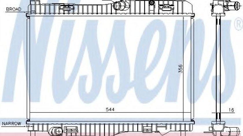 Radiator, racire motor FORD FIESTA VI (2008 - 2016) NISSENS 66858 piesa NOUA
