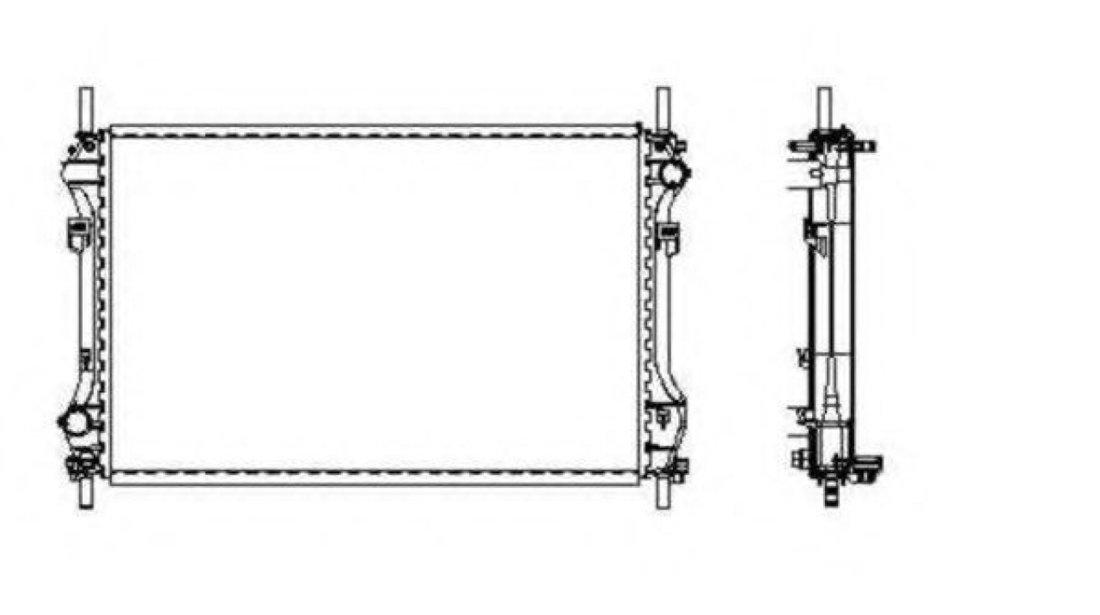 Radiator, racire motor FORD TRANSIT bus (FD, FB, FS, FZ, FC) (2000 - 2006) NRF 509696 piesa NOUA