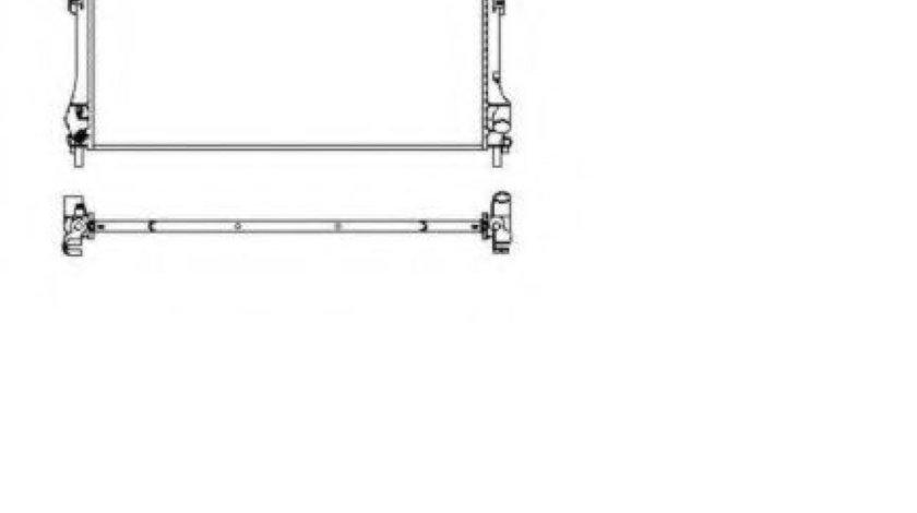 Radiator, racire motor FORD TRANSIT bus (FD, FB, FS, FZ, FC) (2000 - 2006) NRF 509697 piesa NOUA