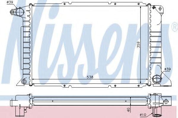 Radiator, racire motor FORD TRANSIT caroserie (E) (1994 - 2000) NISSENS 62080A piesa NOUA