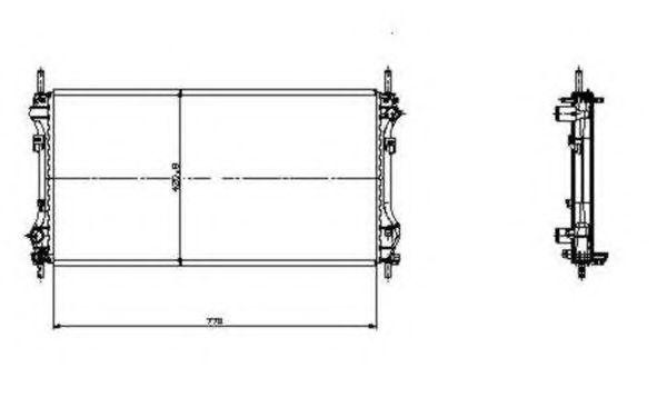 Radiator, racire motor FORD TRANSIT caroserie (FA) (2000 - 2006) NRF 519697 piesa NOUA