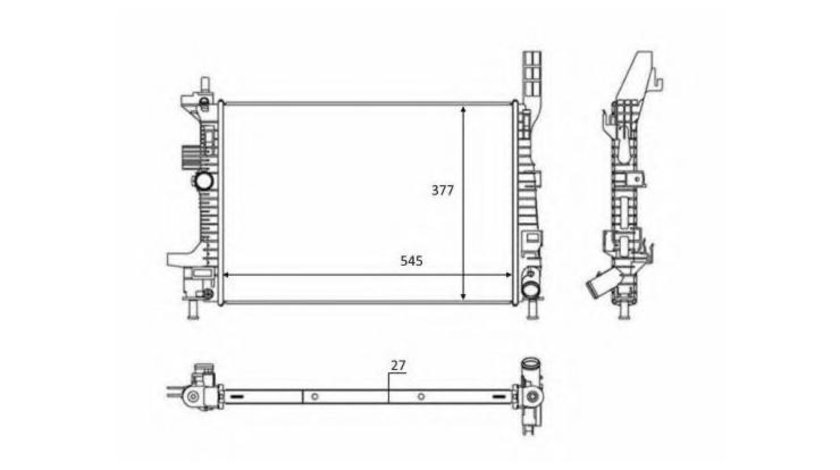 Radiator, racire motor Ford TRANSIT CONNECT (2013->) #2 012M43