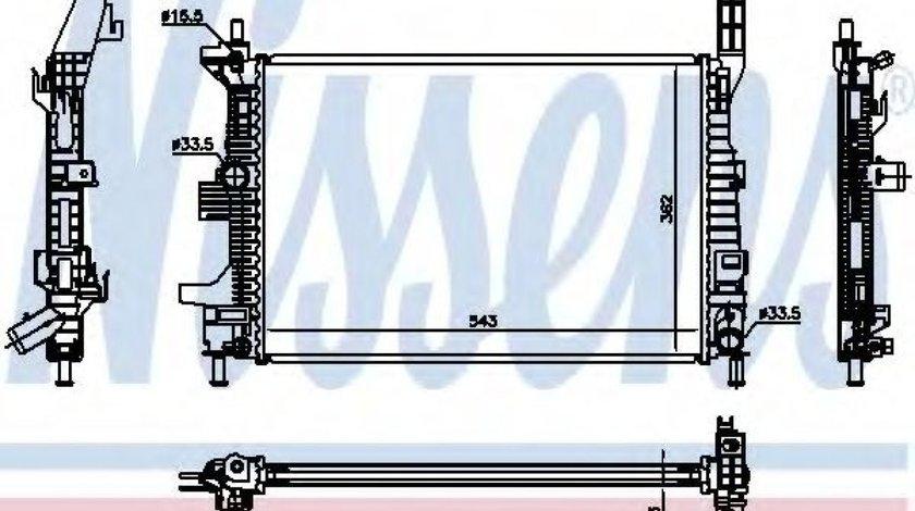 Radiator, racire motor FORD TRANSIT CONNECT caroserie (2013 - 2016) NISSENS 69238 piesa NOUA