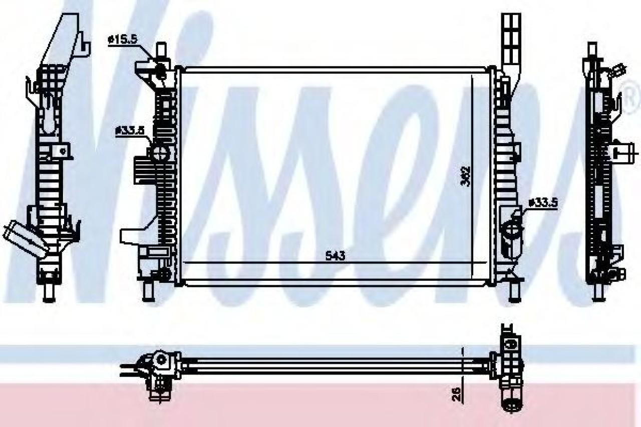 Radiator, racire motor FORD TRANSIT CONNECT caroserie (2013 - 2016) NISSENS 66860 piesa NOUA