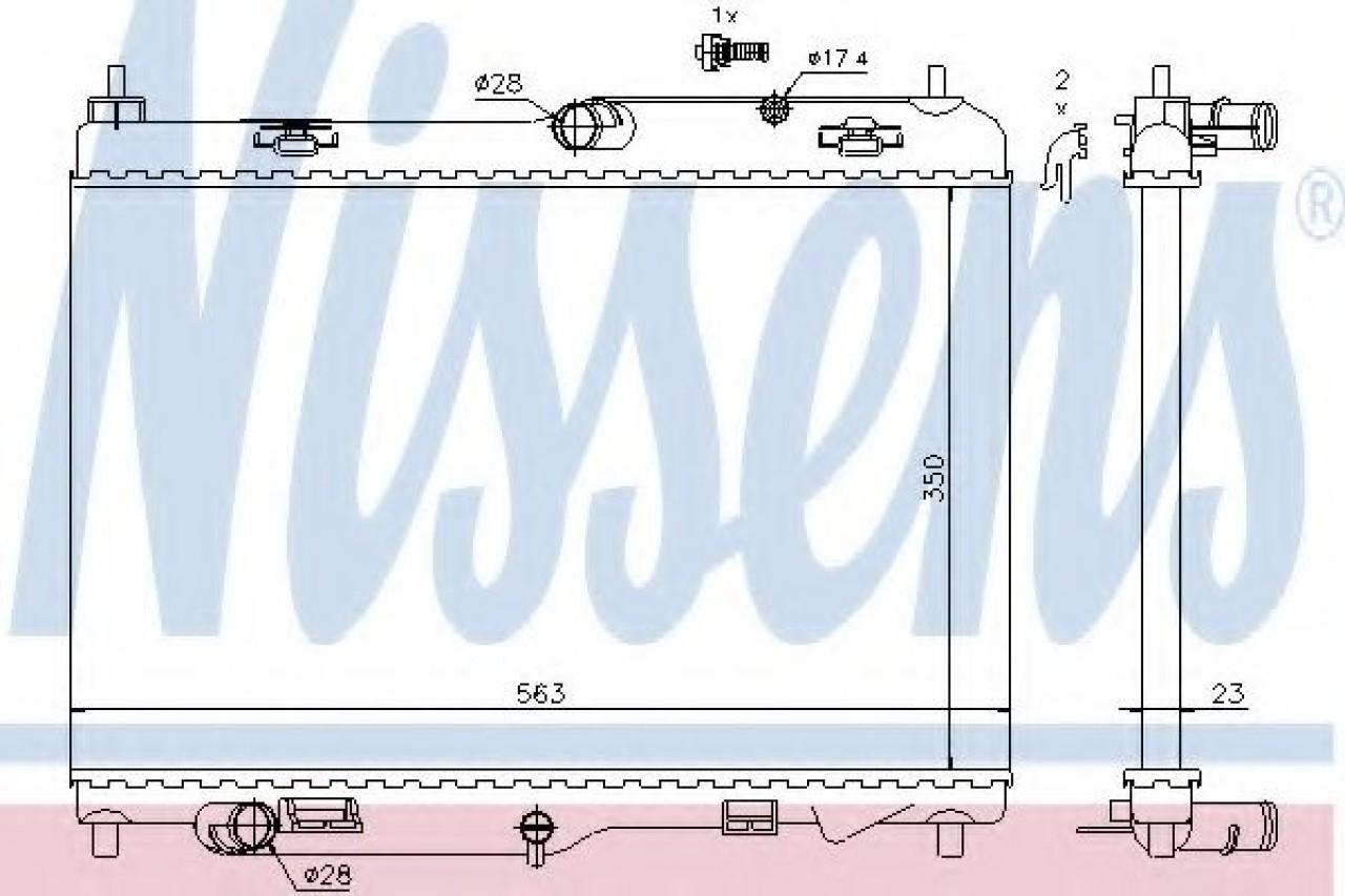 Radiator, racire motor FORD TRANSIT COURIER combi (2014 - 2016) NISSENS 69233 piesa NOUA