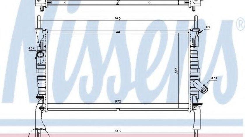 Radiator, racire motor FORD TRANSIT platou / sasiu (2006 - 2014) NISSENS 69225 piesa NOUA