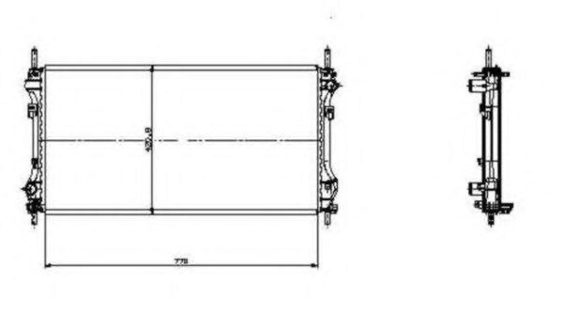 Radiator, racire motor FORD TRANSIT platou / sasiu (FM, FN) (2000 - 2006) NRF 519697 piesa NOUA