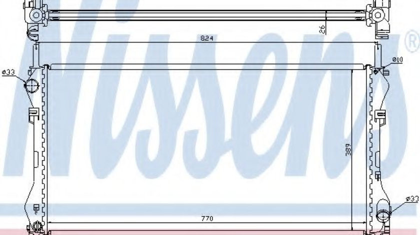 Radiator, racire motor FORD TRANSIT platou / sasiu (FM, FN) (2000 - 2006) NISSENS 62046A piesa NOUA